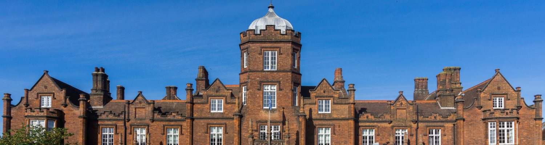 Facade of Ipswich School in Suffolk