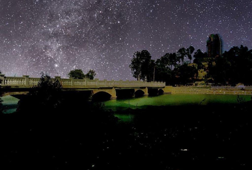 The night view of the Khongjom War Memorial Complex
