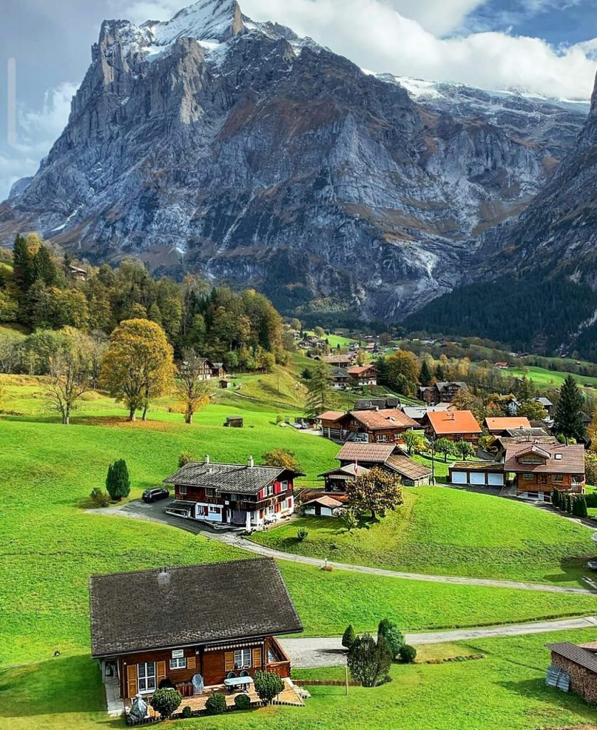The picturesque beauty at Wengen