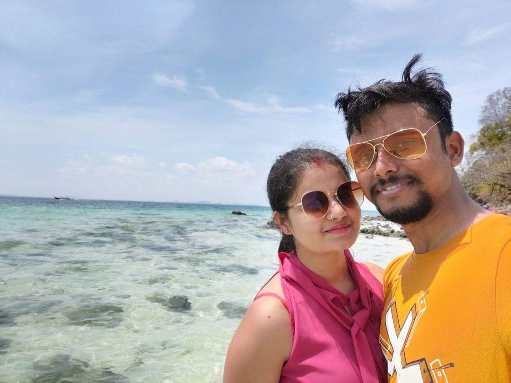 A couple at a beach in Thailand