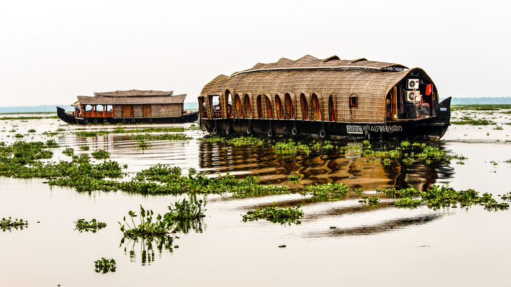 A picture of a houseboat in Alleppey
