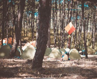 A picture of beautiful little tents in Meghalaya