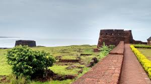 The Bekal beach and fort building