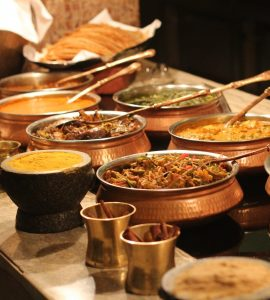 Indian Buffet spread