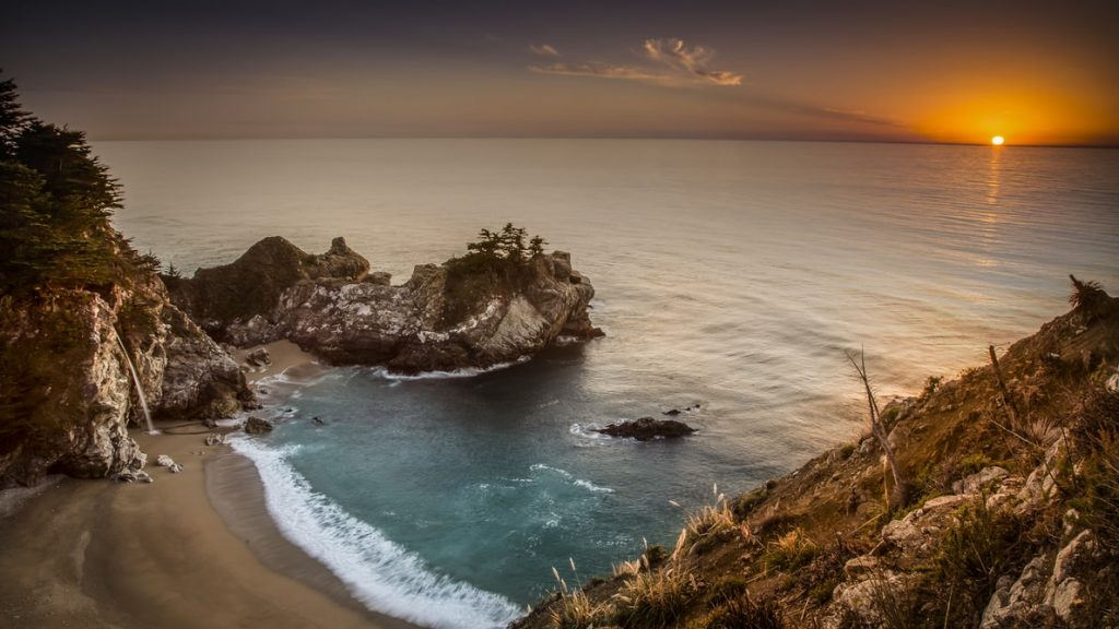 McWay falls at the time of sunset