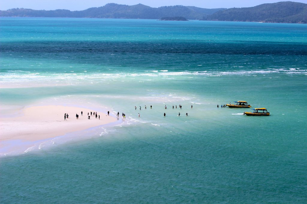 A view of the Whitehaven Beach in Australia