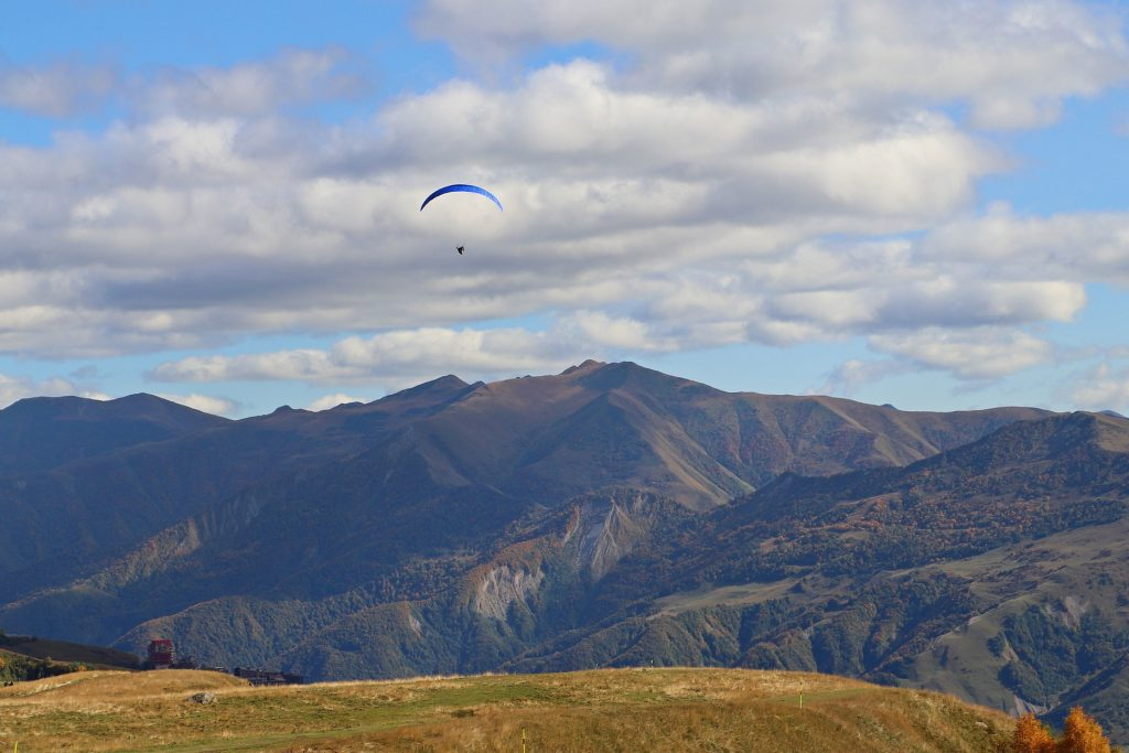 Gudauri Paragliding adventure activities