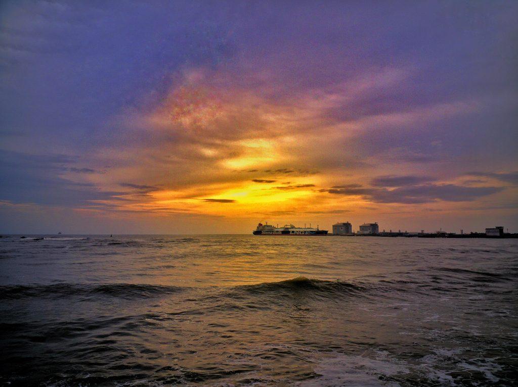 Sunset in Cochin, Kerala