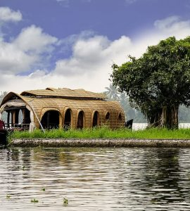 A houseboat in Kumarakom
