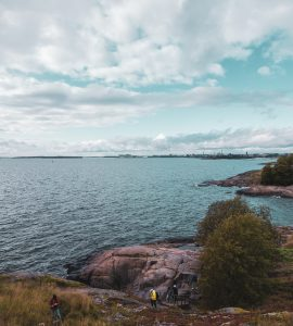 a snippet of the coast of Suomenlinna