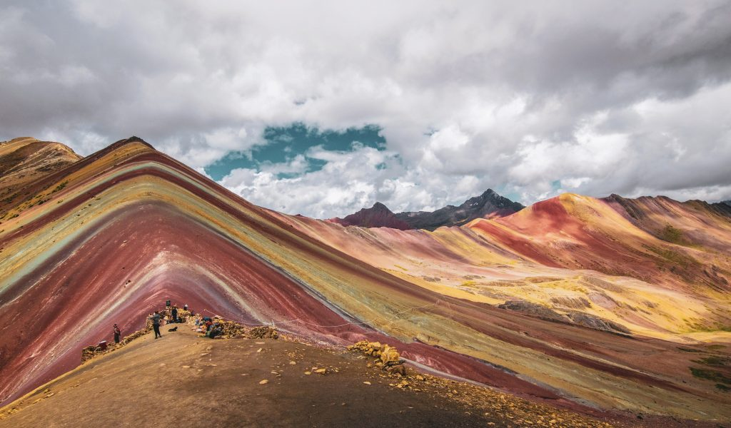 An amazing view of Rainbow Mountain