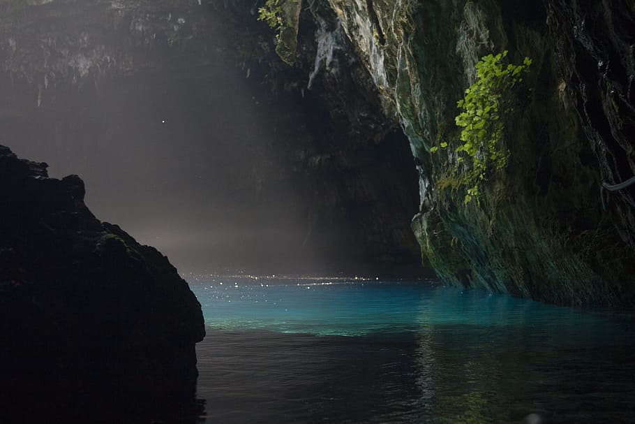 the cave lake of Melissani