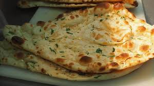 Naan served on a plate