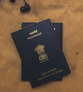 A picture of two Indian passports