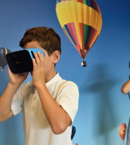 Children enjoying VR games