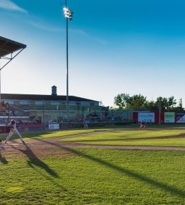 A baseball stadium in Trois-Rivières