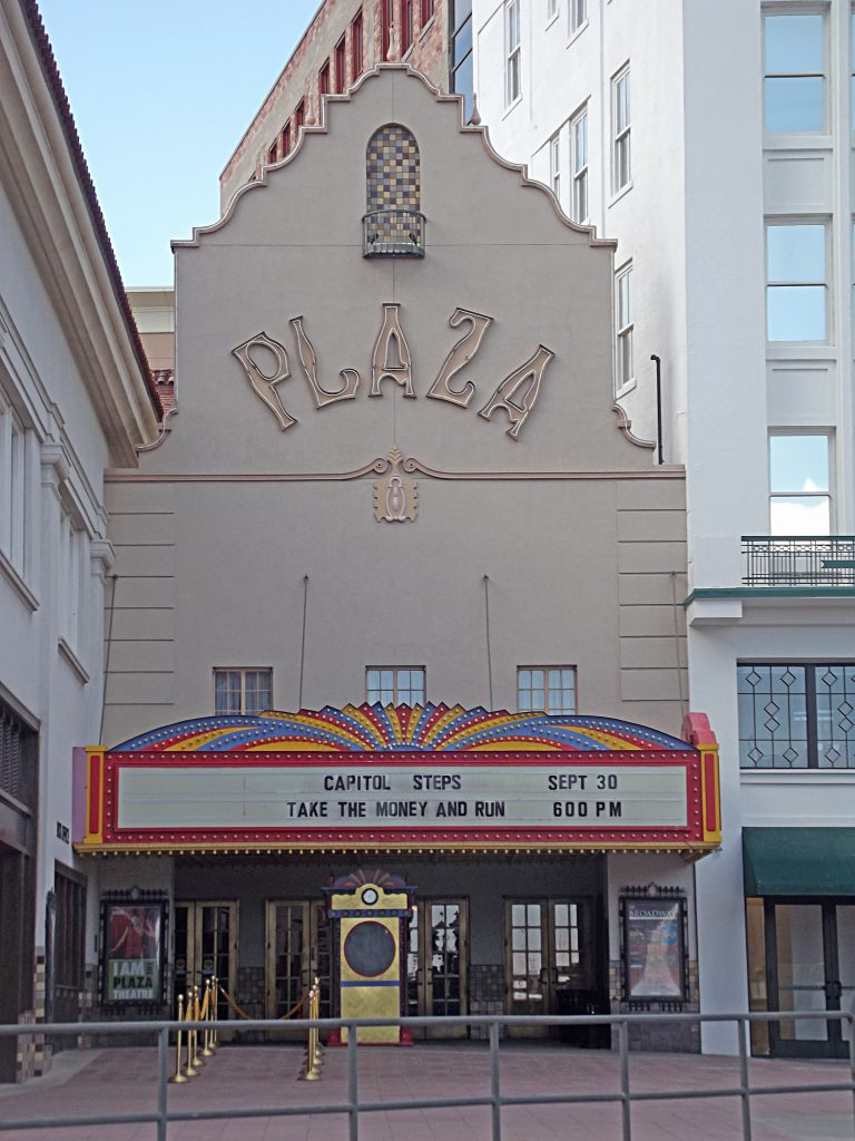 entrance of the Plaza theatre