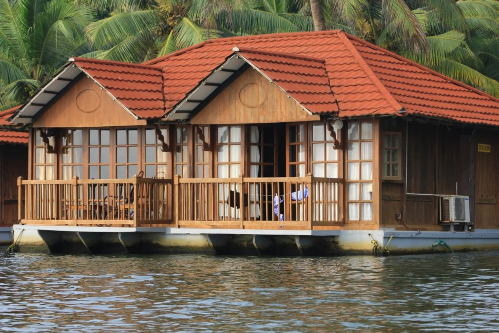 Resort at the Poovar backwaters