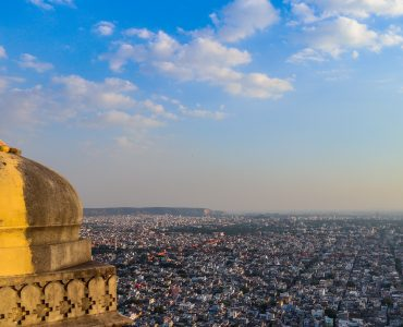 an aerial view of the city of Rajasthan