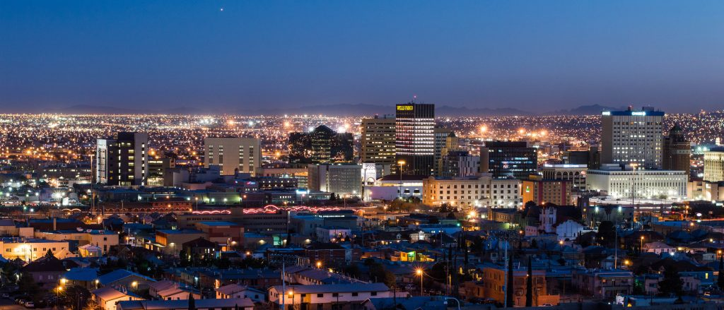 El Paso city in the night