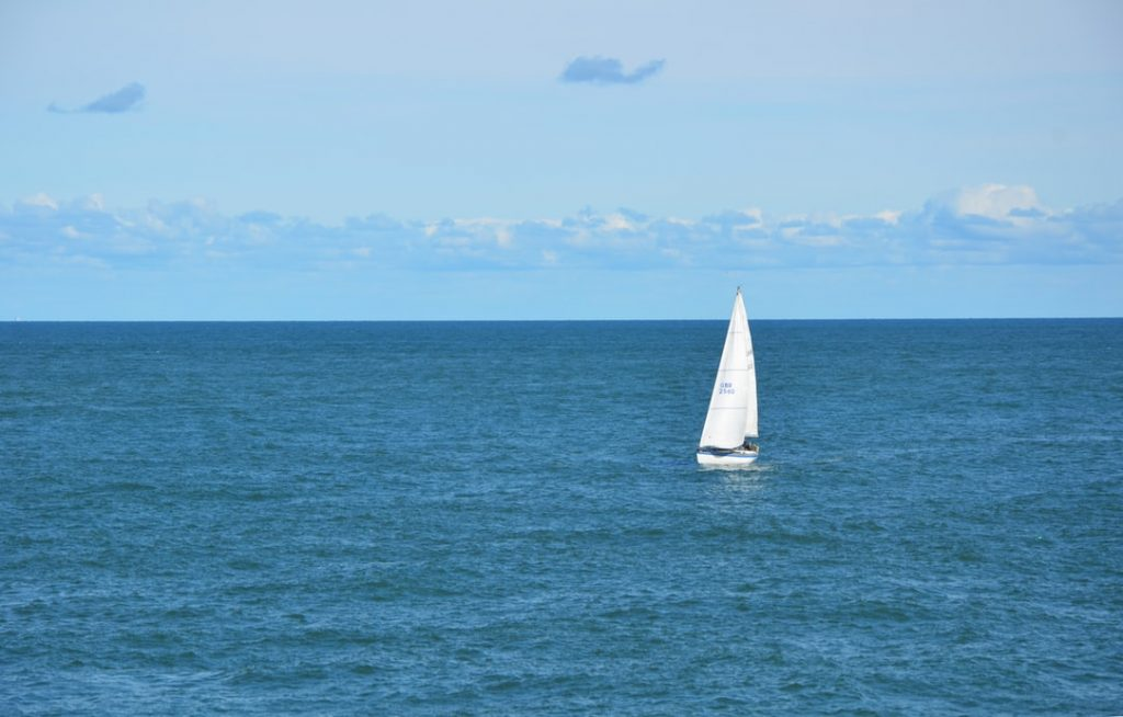 a yacht sailing in the sea