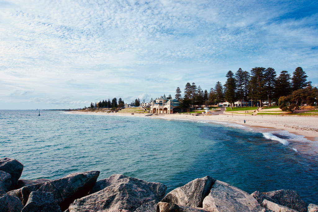 The beautiful shores of Cottesloe Beach