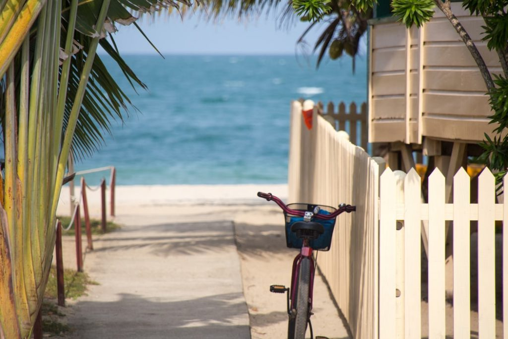 Bicycle in the beach
