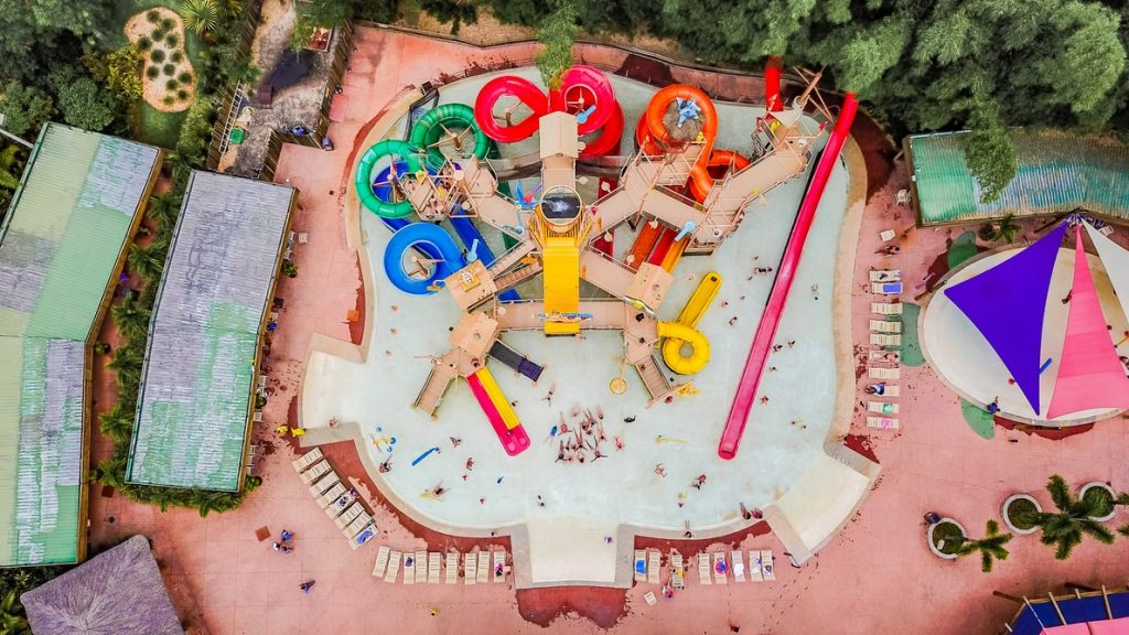 Top view of the water parks in Delhi