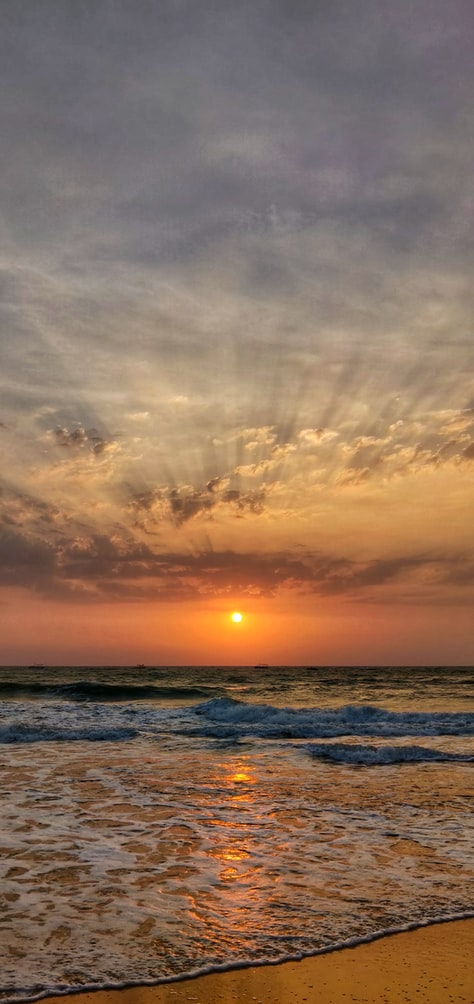 sunset in Goa coast