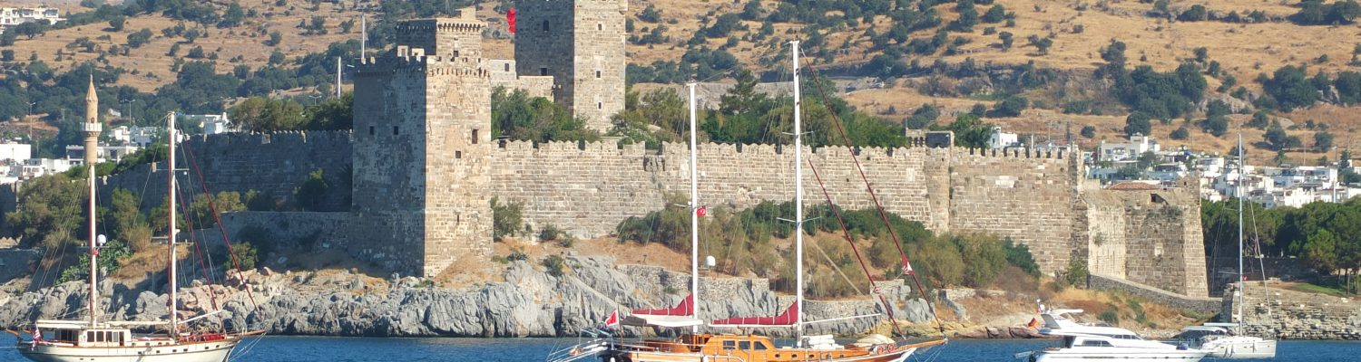 Bodrum castle view from Aegian Sea