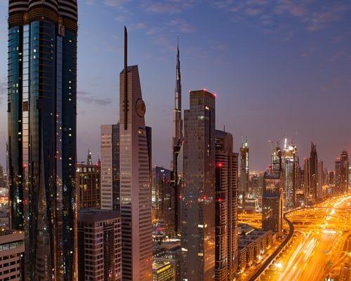 Dubai at night in October