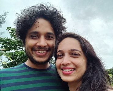 My husband and I during our Maharashtra staycation