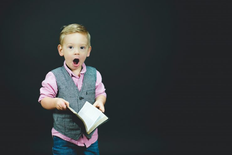 A surprised kid