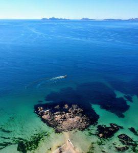the popular samil beach of Vigo