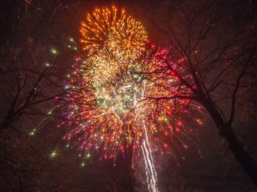 Fireworks in New York in December