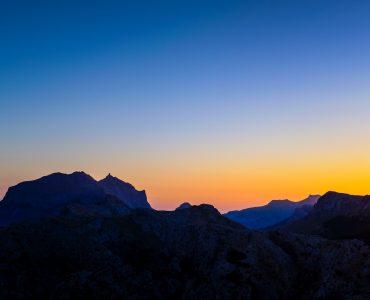 Sunset Vie on Hills of Spain