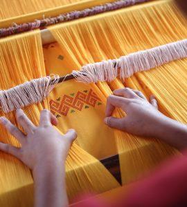 handloom saree making