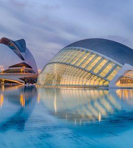 The city of Arts and Science built by Calatrava, valencia, spain