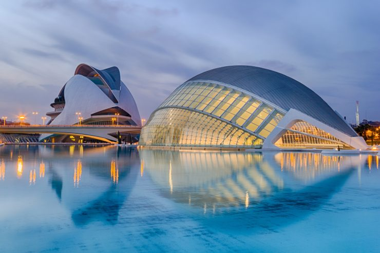 The city of Arts and Science built by Calatrava, valencia, spain
