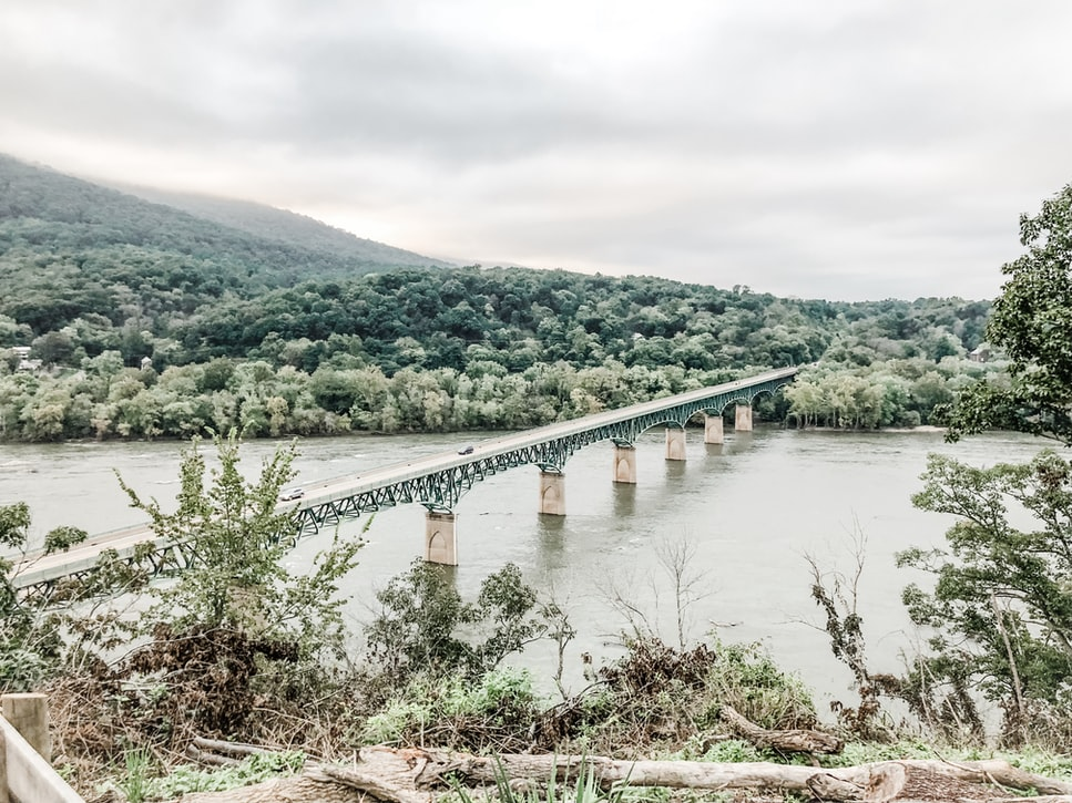 Harpers ferry drone view