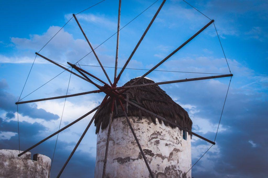 A windmill in Mykonos