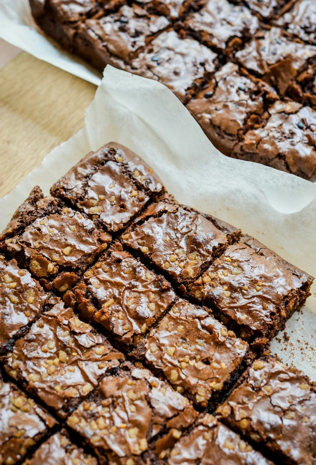 freshly baked brownies