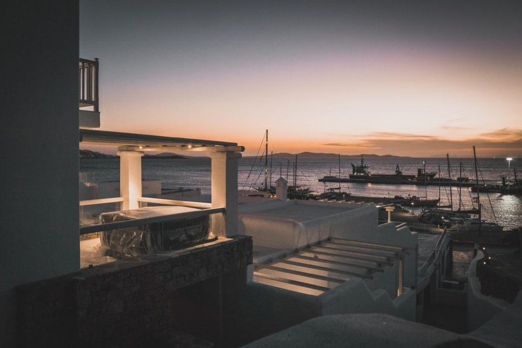 Old harbour in Mykonos