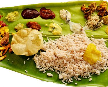 Kerala cuisine ela sadhya