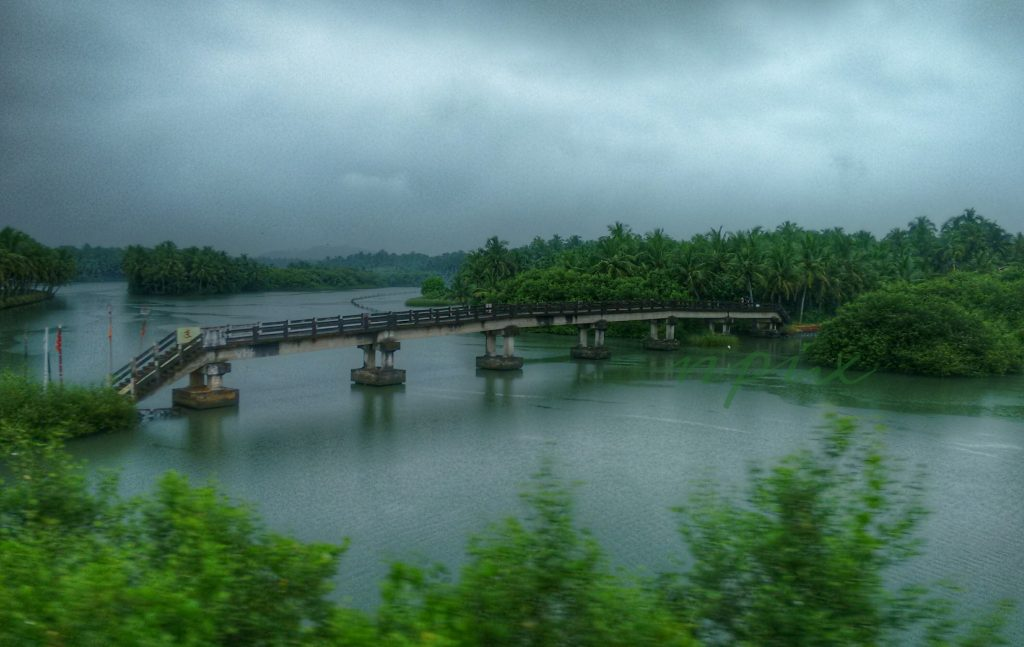 A bridge on a lake