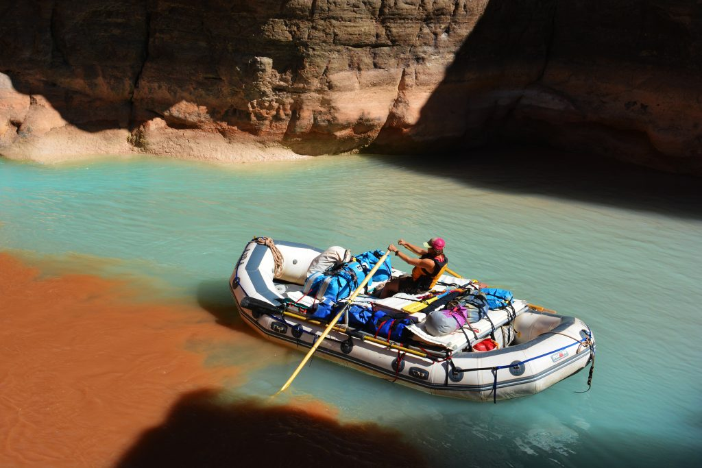 Boating at the Colorado River.
