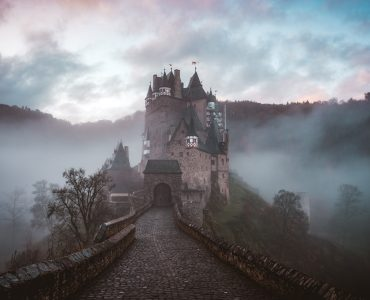 Haunted castle in Europe