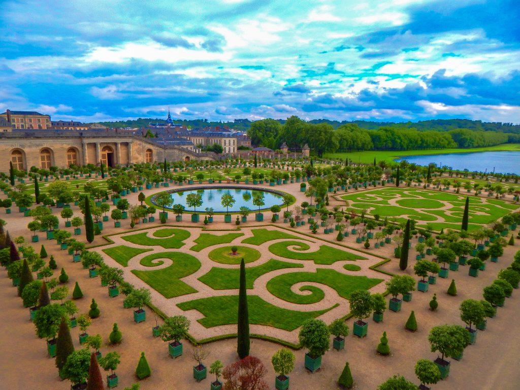 The palace of Versailles and gardens, Paris
