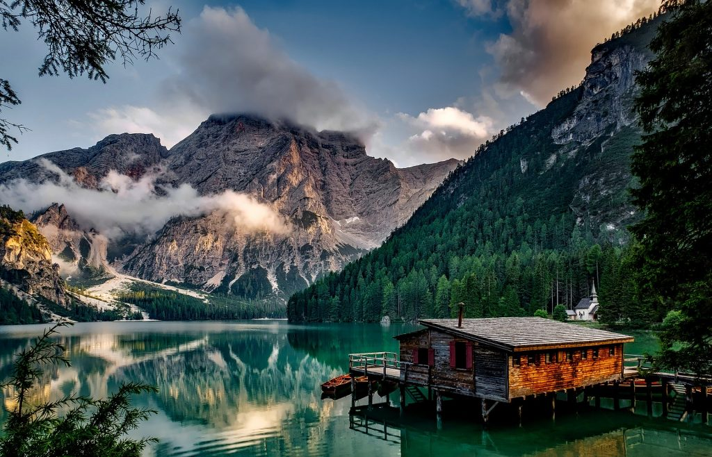 Natural Wonders of Italy, Pragser Wildsee lake.