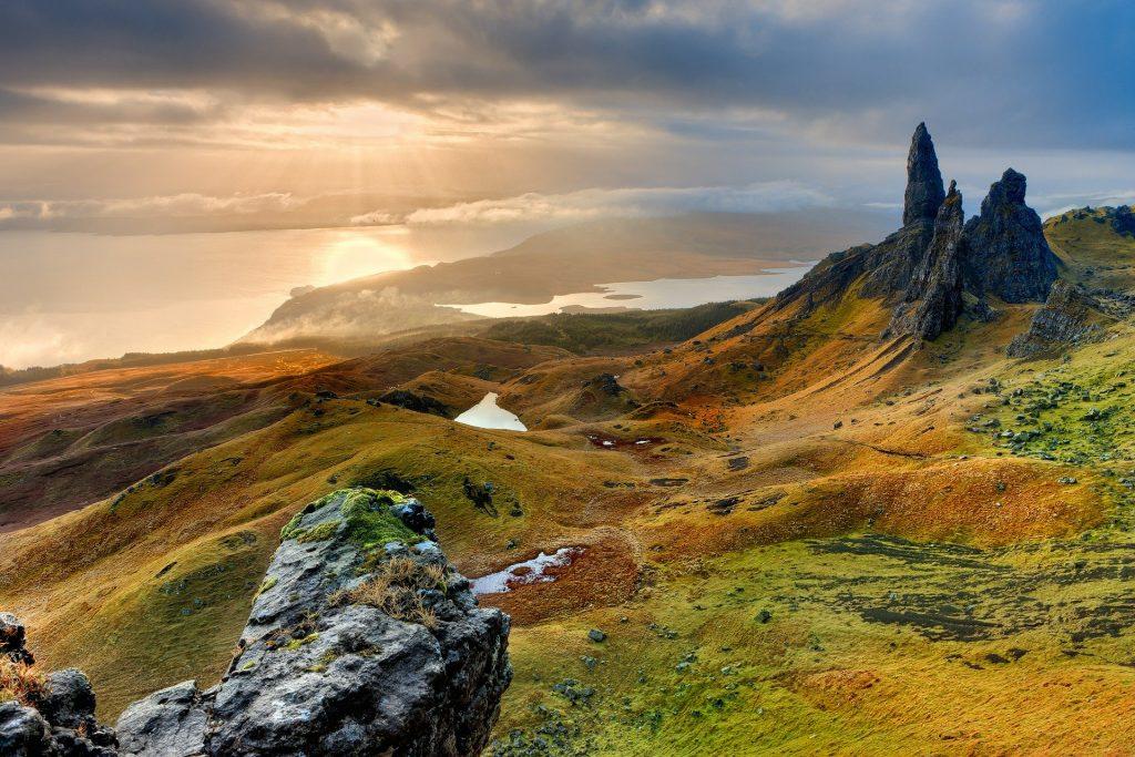 The beautiful landscape of Scotland.